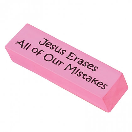 Jesus Erases All Of Our Mistakes Rubber