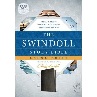NLT Swindoll Study Bible Imitation Leather Large Print by Charles Swindoll