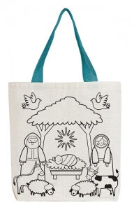 Colour Your Own Canvas Tote Bag Christmas Gift