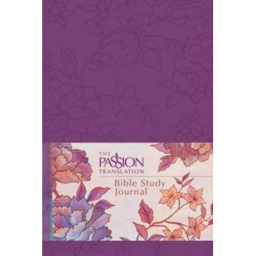 The Passion Translation Bible Study Journal Imitation Leather Peony