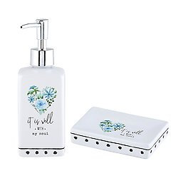 It is Well With My Soul Soap Dispenser and Dish Set