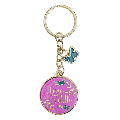 Live by Faith Metal Keyring with Link Chain EAN 843310101414