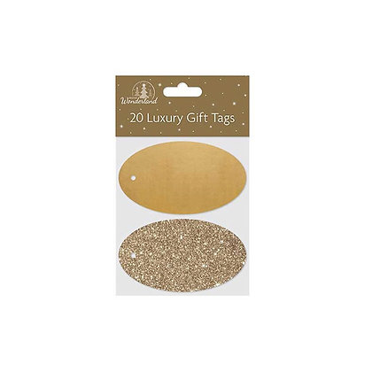 Gold Oval Gift Tags 20 Pieces In A Pack