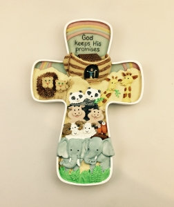 God Keep His Promise Noah's Ark Wall Art Cross