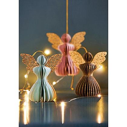 Pastel Angel Decorations Set Of 3