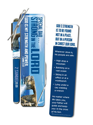 PEN & BOOKMARK GIFT SET STRONG IN THE LORD DAD