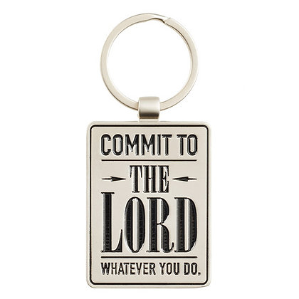 Commit to the Lord - Proverbs 16:3 Keyring in Tin	Hardback