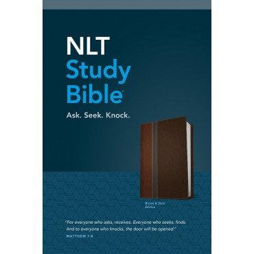 NLT Study Bible, Tutone Imitation Leather by Tyndale
