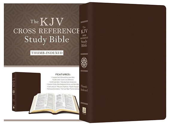 KJV Cross Reference Study Bible: Leather Compiled by Barbour Staff