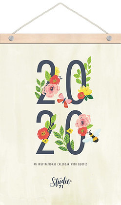 2020 Wood Strip Wall Calendar