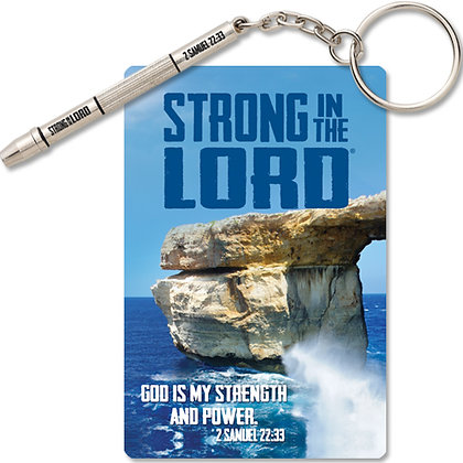 Strong In The Lord 4 In 1 Screwdriver Key Chain ( Fathers day )