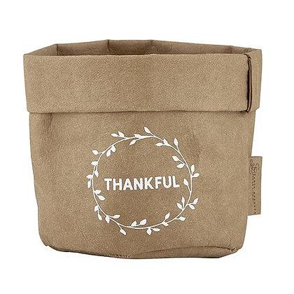 Thankful Washable Paper Holder - Small - Natural Kraft