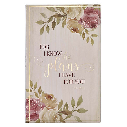 For I Know the Plans Flexcover Journal - Jeremiah 29:11