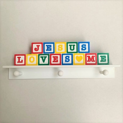 Jesus Loves Me Childrens Coat Hooks