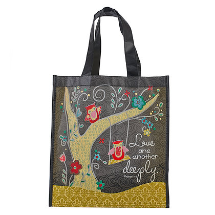 Love One Another Deeply Shopping Bag - 1 Pet 4:8