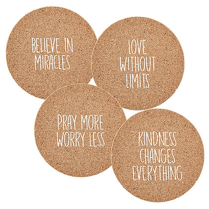 Cork Coaster Believer In Miracles, Love Without Limits, 4