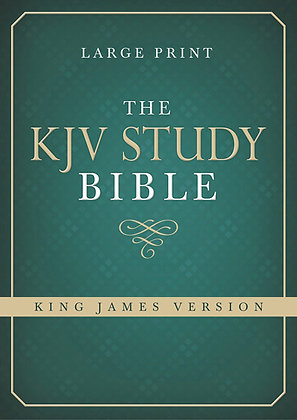 The KJV Study Bible Large Print Hardback