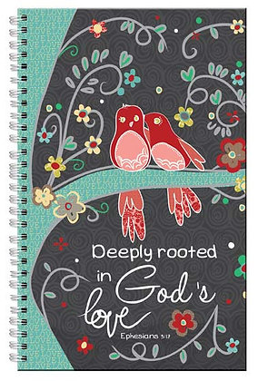Deeply Rooted In God's Love Wiro Notebook