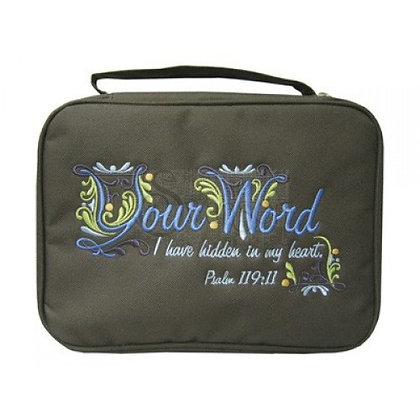 Your Word I Have Hidden In My Heart Canvas Bible Cover Large