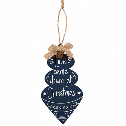 Love Came Down At Christmas Jingle Tree Ornament