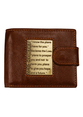 Leather Wallet: I Know the Plans Quick