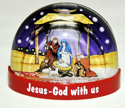 Jesus God With Us Snowstorm Fridge Magnet: Nativity  Each