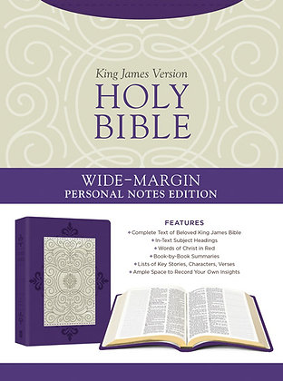 Wide-Margin Personal Notes Edition Bible  Compiled by Barbour Staff