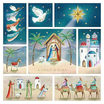 A Child Is Born Christmas Greeting Cards Pack Of 10