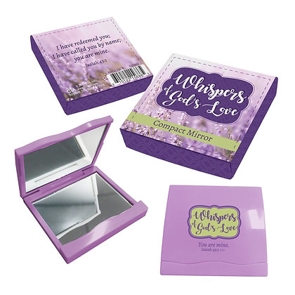WHISPERS OF GOD'S LOVE COMPACT MIRROR IN CASE