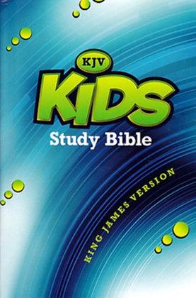 KJV - Kids Study Bible, Blue/Green Hardback