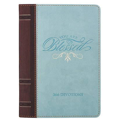 You Are Blessed Devotional Book Lux-Leath Leather byKaren Moore