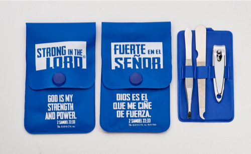 Be Strong In The Lord Manicure Set ( Fathers day)