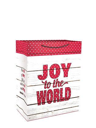 Joy To The world Rostic Medium Gift Bag