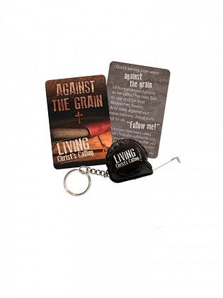 Living Christ's Calling Tape Measure Key Chain Against The Grain