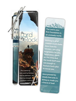 The Lord Is My Rock Special Pen & Bookmark Fathers day Gift Set