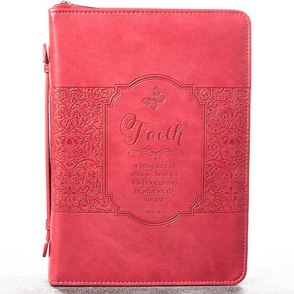 Faith in Pink Hebrews 11:1 Bible Cover