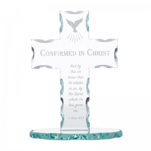 Confirmed In Christ Glass Cross