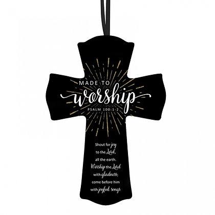 MADE TO WORSHIP - WOODEN HANGING