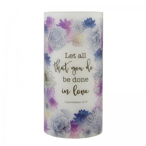 Let All You Do Be Done In Love LED Candle