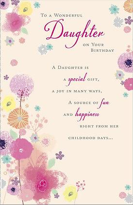 Daughter's birthday card