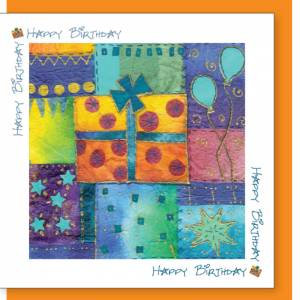Present Design Birthday Card (with verse) Unisex