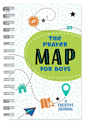 The Prayer Map for Boys A Creative Journal Compiled by Barbour Staff