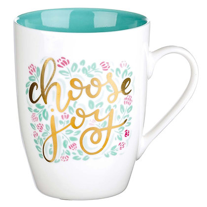 Choose Joy Ceramic Coffee Mug Each/Box Of 4