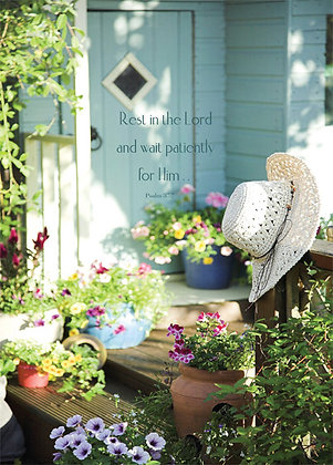 Rest in The Lord And Wait Patiently On Him Wall Art Psalm 37:7