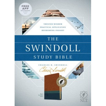 The NLT Swindoll Study Bible Indexed Leather by Charles Swindoll