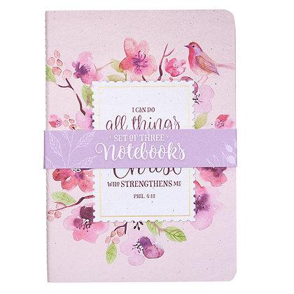Floral Inspirations Medium Notebook Set - Philippians 4:13