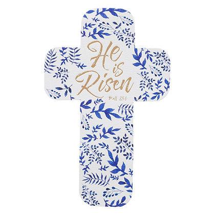 Bookmark Cross; He Is Risen Mt 28:6 Paper