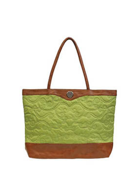 Embroidered Micro-Green Tote