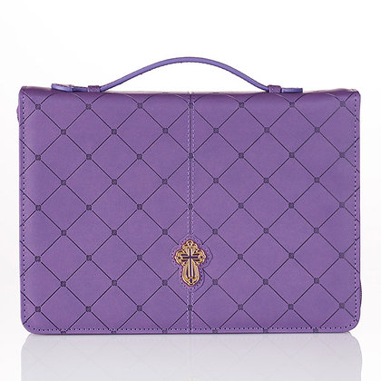 Bible Case: Cross Purple (M/L)