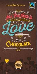 Sentiments bar - All You Need Is Love And Chocolate Pack of 8 (Milk&Dark)